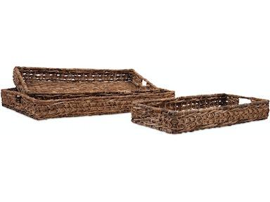 imax corporation madura banana leaf trays set of 3