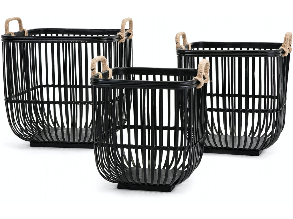 Imax corporation accessories rit baskets set of 3 11912 - Home decor columbia sc set ...