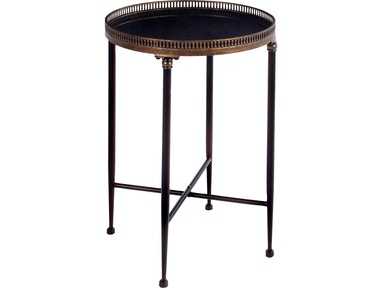 IMAX Corporation Round Black Accent Table 12002