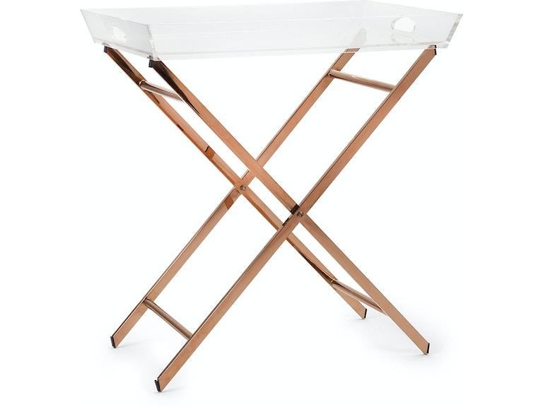 Imax Corporation Living Room Clinton Acrylic Tray Table