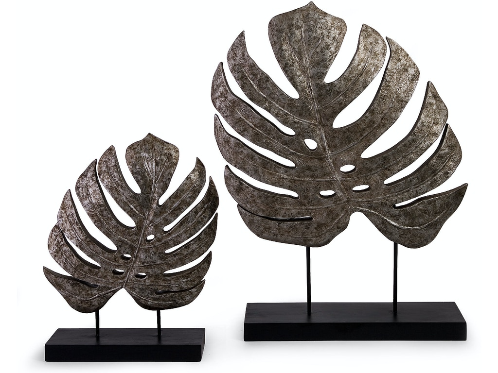 Imax corporation accessories silver antiqued leaves set - Home decor columbia sc set ...
