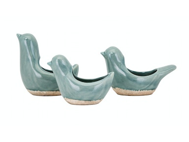 Danica Bird Planters - Set of 3