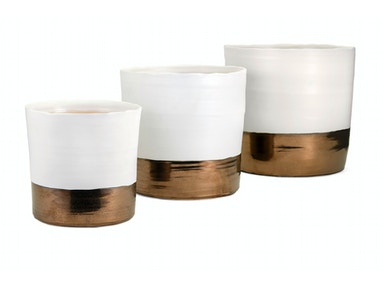 Harlow Ceramic Planters - Set of 3