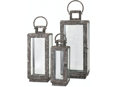 IMAX Corporation Homestead Metal Lanterns - Set of 3 14234-3
