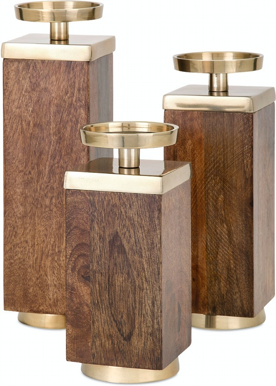IMAX Corporation Accessories Concepts Eden Wood Candleholders Set Magnificent Shumake Furniture Decatur Al Concept