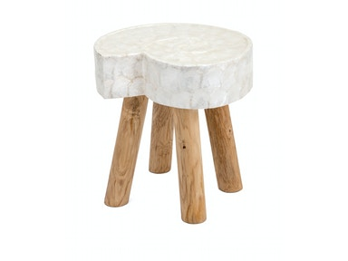 IMAX Corporation Kalui Capiz Shell Stool 14538