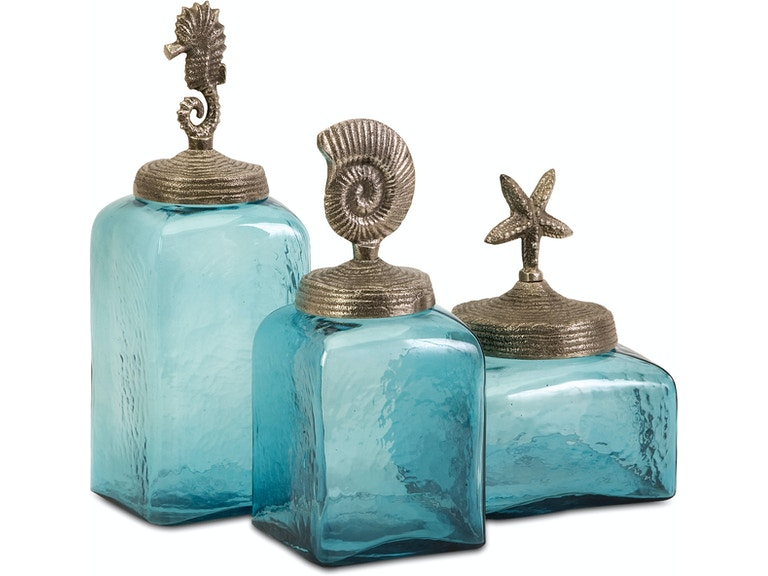 Imax Corporation Accessories Sea Life Canisters Set Of 3