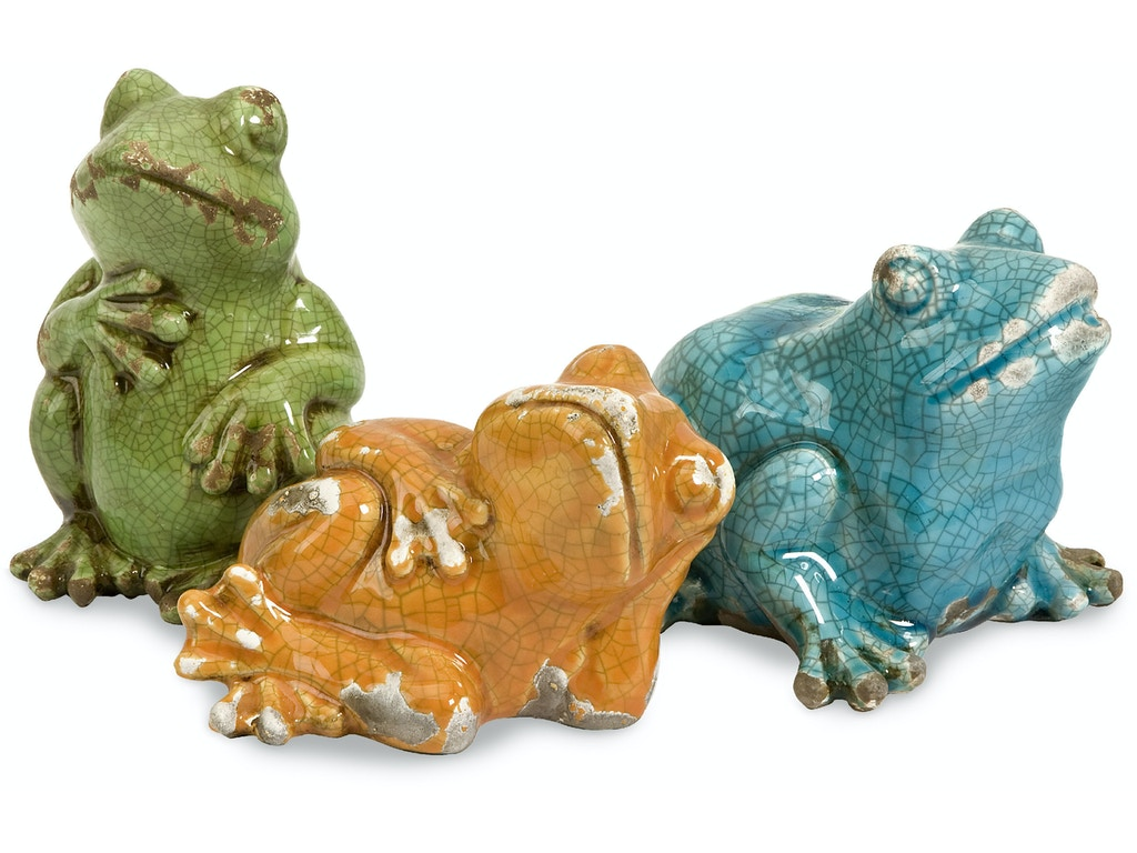 Imax Corporation Accessories Garza Casual Frogs Set Of 3