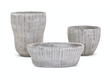 IMAX Corporation Hudson Cement Flower Pots - Set of 3 25609-3