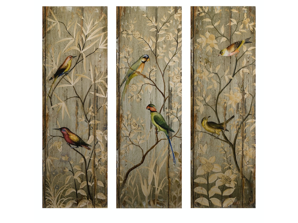 Calima Bird Wall Decor   Set Of 3 : Imax corporation accessories calima bird wall decor set of