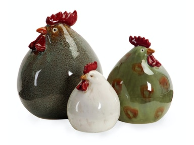 IMAX Corporation Stylized Chickens - Set of 3 5034-3