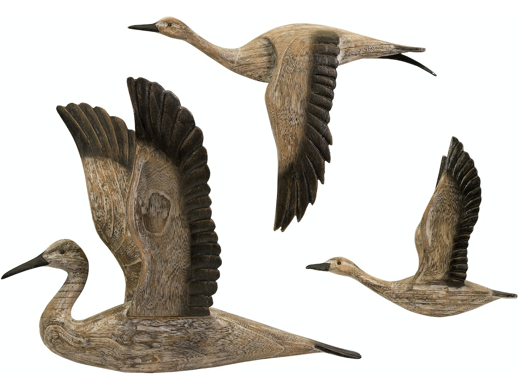 Imax corporation accessories reeds migration wood wall decor set of 3 50895 3 strobler home - Home decor columbia sc set ...