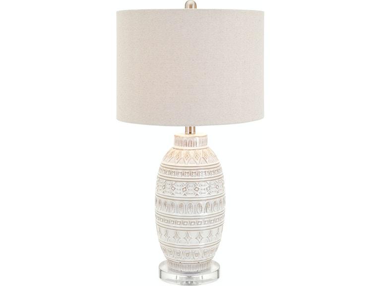 IMAX Corporation Addonis Ceramic Table Lamp 59274 from Walter E. Smithe  Furniture + Design