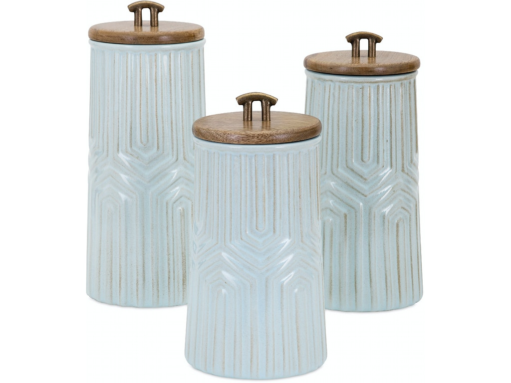 Imax corporation accessories tia canisters set of 3 - Home decor columbia sc set ...