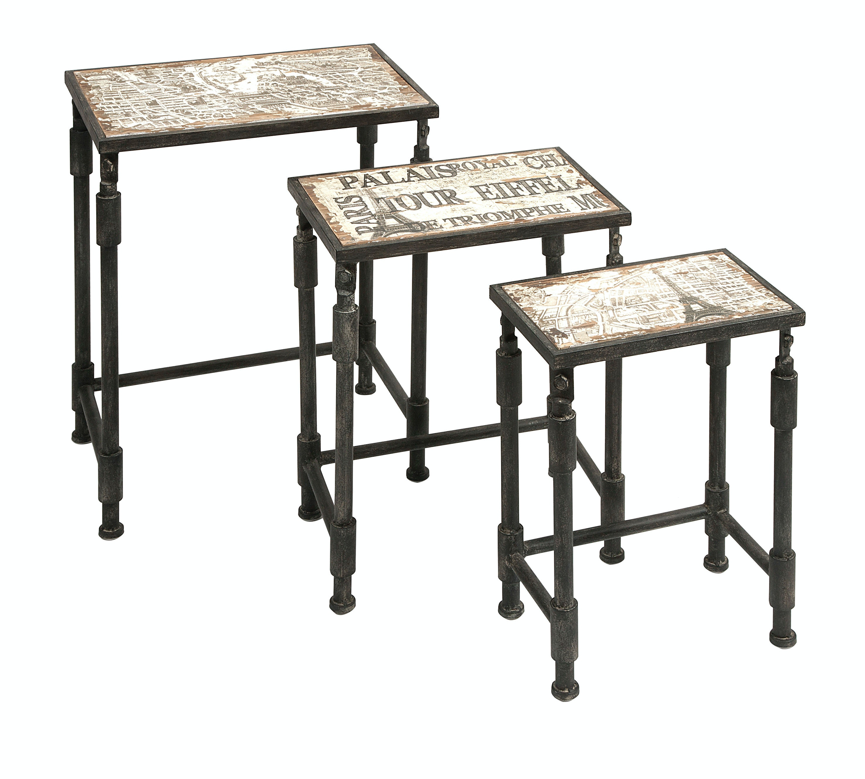 Set of 4 Frenchi Home Furnishing Nesting Tables Home Living