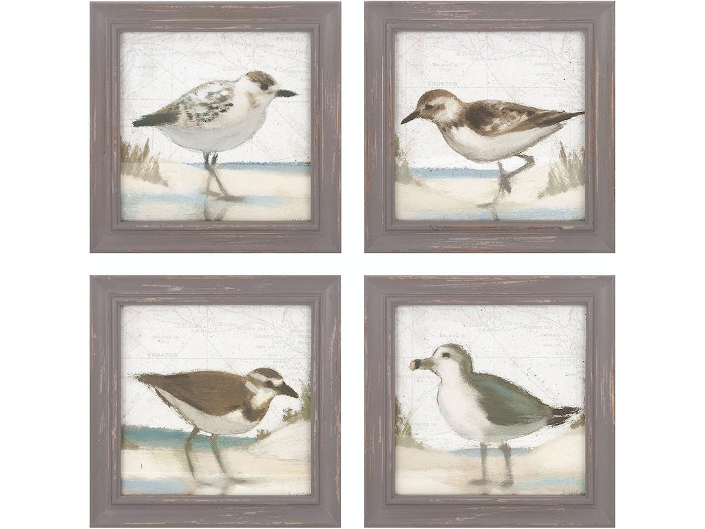 Imax Corporation Accessories Sea Bird Wall Decor Ast 4