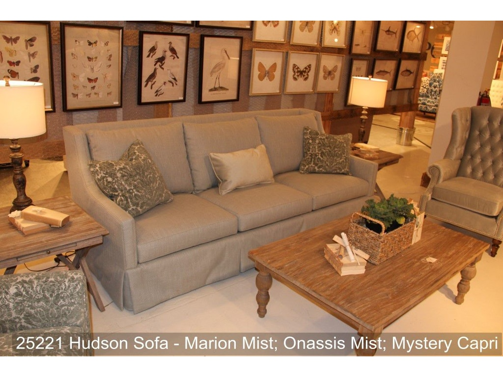 Southern Furniture Living Room Hudson Sofa 25221 Whitley Furniture Galleries Raleigh Nc