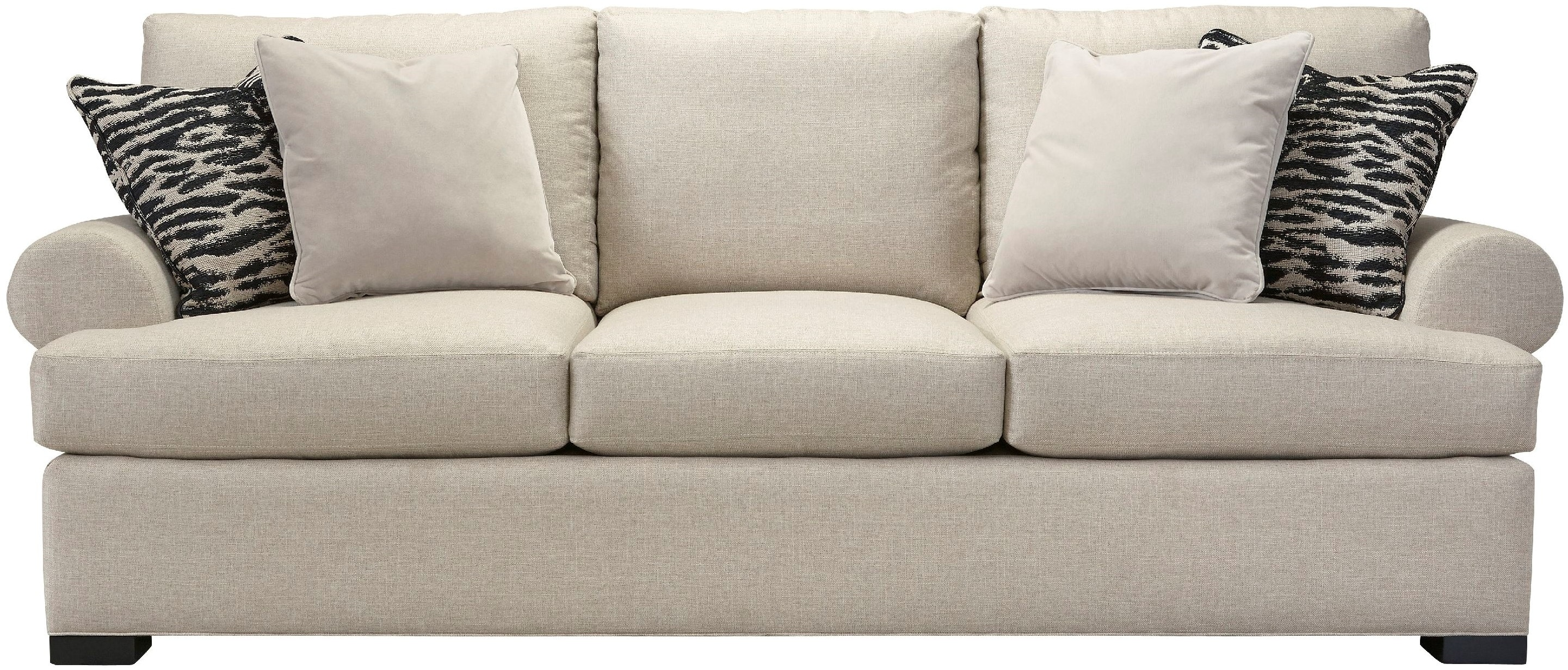 Southern Furniture Living Room August Roll Arm Sofa