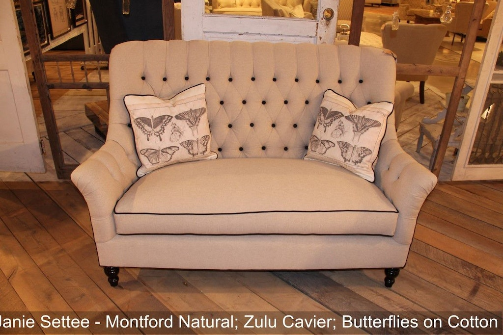 Southern Furniture Living Room Janie Settee 45566 Whitley Furniture Galleries Raleigh Nc