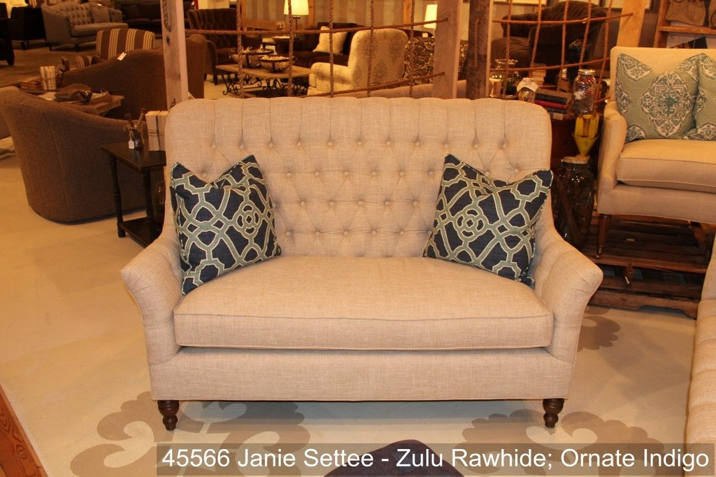 Southern furniture living room janie settee 45566 Living room furniture raleigh nc