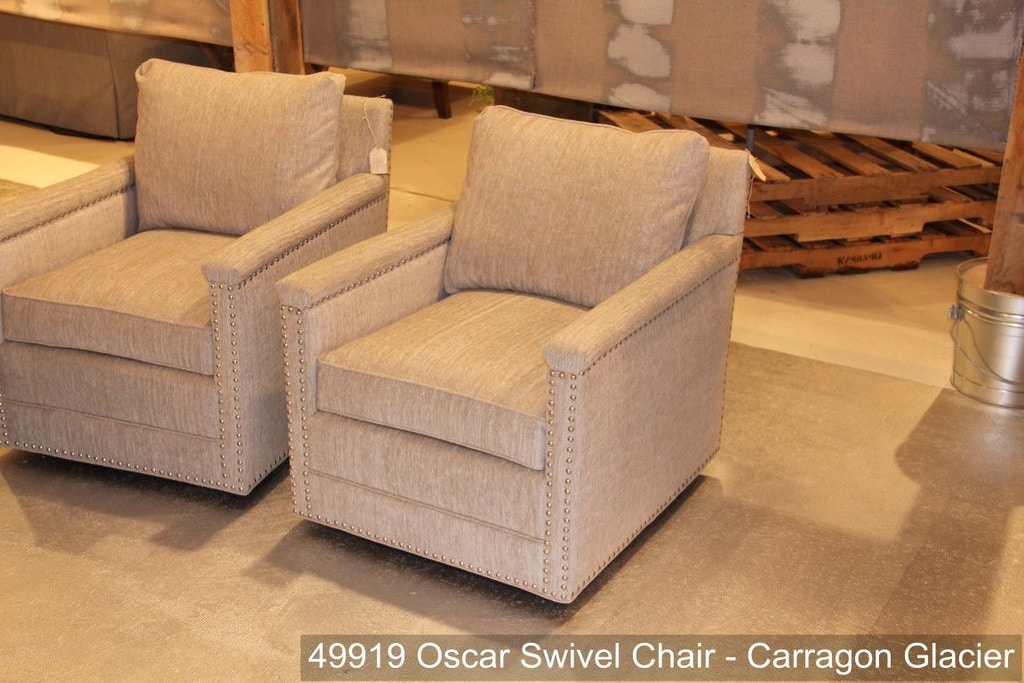 Southern Furniture Living Room Oscar Swivel Chair-nails ...