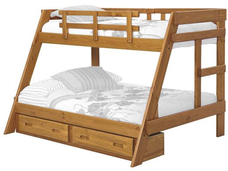 ff1f21ef42 Woodcrest Youth Heartland A-Frame Bunk Bed A2650 at Short Furniture Co.
