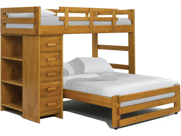 Woodcrest Youth Bedroom Heartland Twin Over Full Loft Bed With Small
