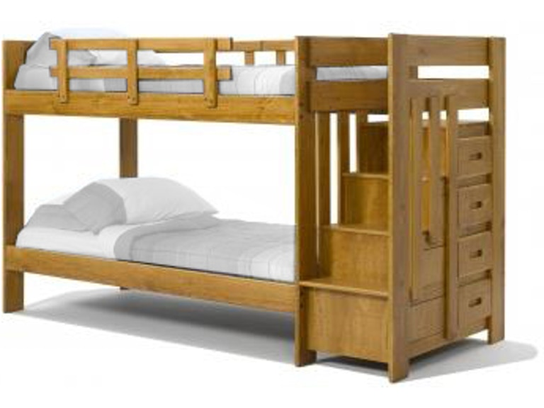 Woodcrest Youth Heartland Reversible Staircase Bunk Bed