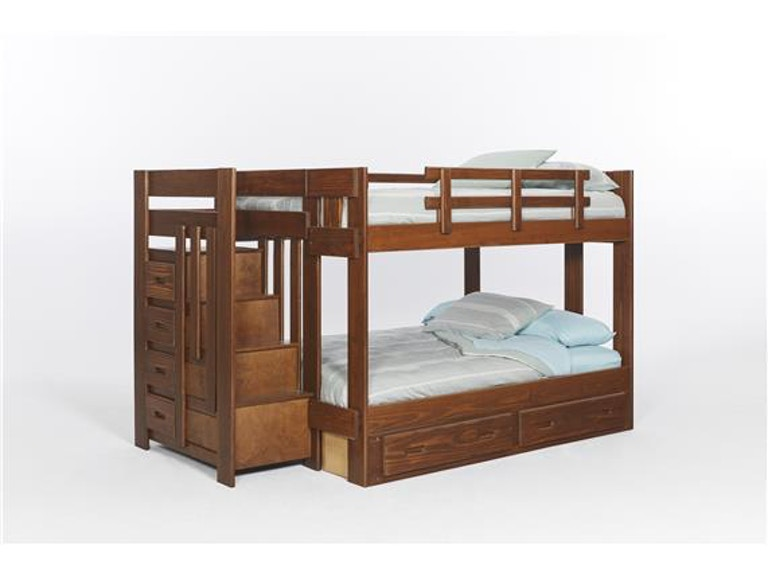 744bc00c19 Shop our Heartland Staircase Bunk Bed by Woodcrest | XSTH554R | Joe ...