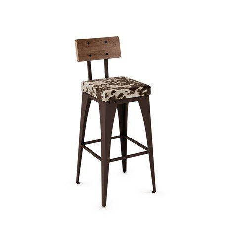 upright non swivel bar height stool - Amisco Bar Stools