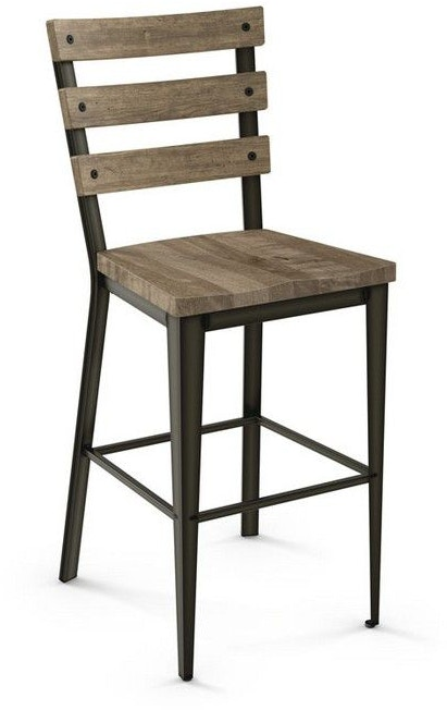 Amisco Bar and Game Room Non Swivel Stool 30