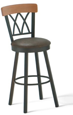 Amisco Bar And Game Room Brittany Swivel Bar Height Stool