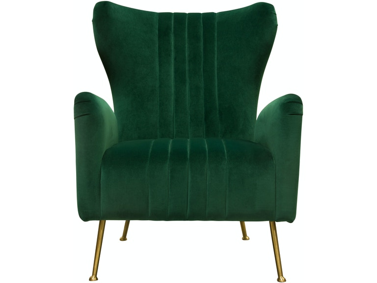 Swell Diamond Sofa Living Room Ava Chair In Emerald Green Velvet Gmtry Best Dining Table And Chair Ideas Images Gmtryco
