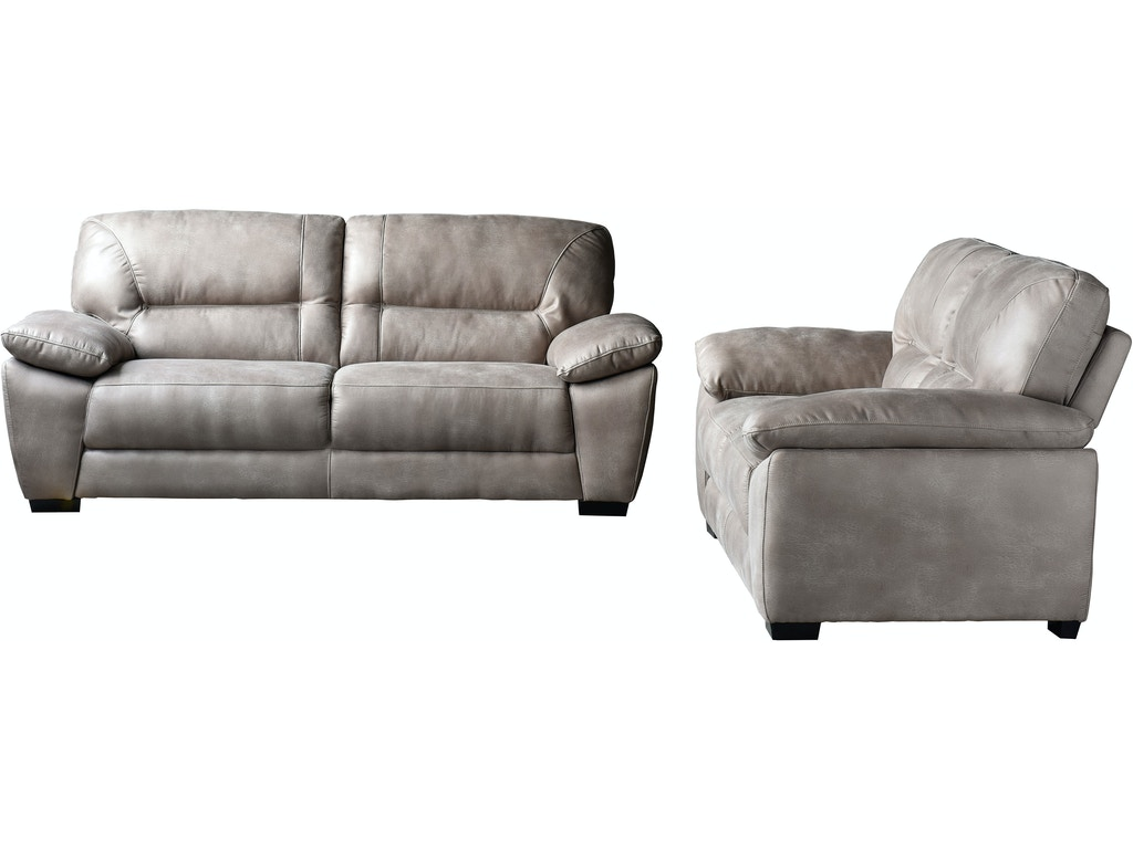Diamond Sofa Living Room Avanti Dark Grey Soft Touch Fabric Sofa And Loveseat 2pc Set Avantislta
