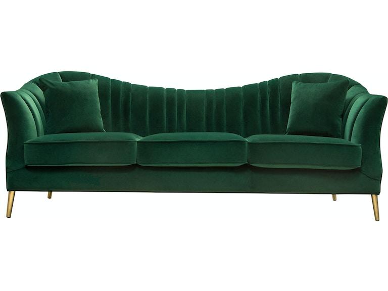 Fantastic Diamond Sofa Living Room Ava Sofa In Emerald Green Velvet Ibusinesslaw Wood Chair Design Ideas Ibusinesslaworg