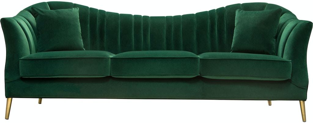 Fine Diamond Sofa Living Room Ava Sofa In Emerald Green Velvet Ibusinesslaw Wood Chair Design Ideas Ibusinesslaworg