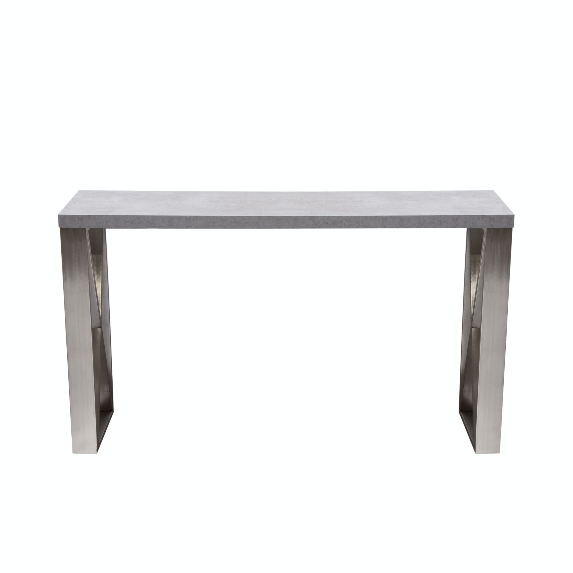 Diamond Sofa Living Room Carrera Console Table In 3d Marble Finish