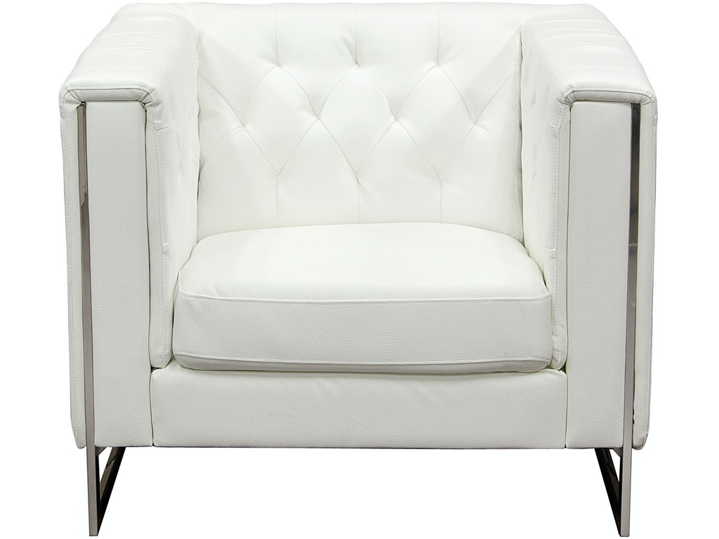 Diamond Sofa Living Room Chelsea Leatherette Sofa Chair