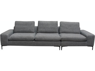 Diamond Sofa Living Room Flux 3pc Modular Sectional In Grey Fabric With Feather Down Seating