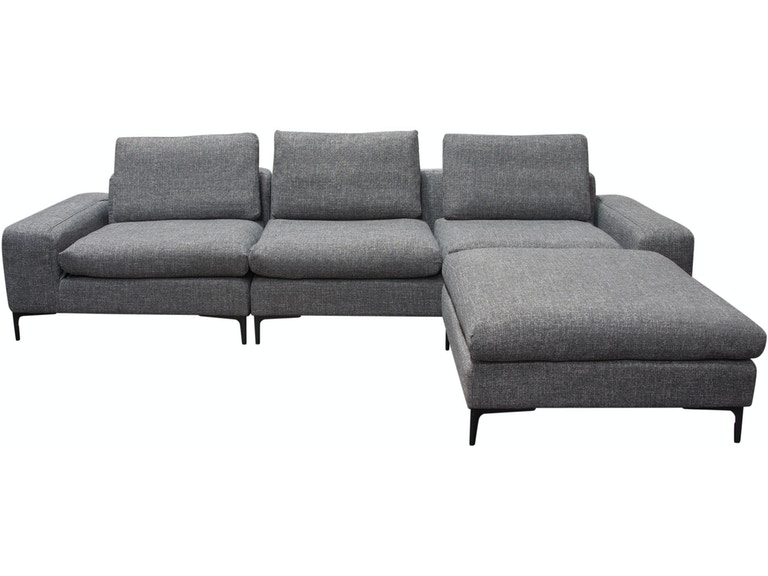 Pleasing Diamond Sofa Living Room Flux 3Pc Modular Sectional In Grey Caraccident5 Cool Chair Designs And Ideas Caraccident5Info