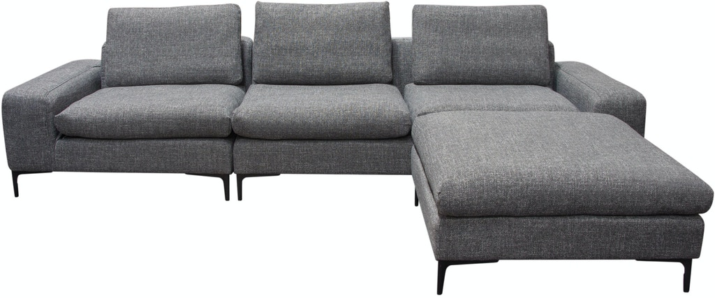 Superb Diamond Sofa Living Room Flux 3Pc Modular Sectional In Grey Caraccident5 Cool Chair Designs And Ideas Caraccident5Info