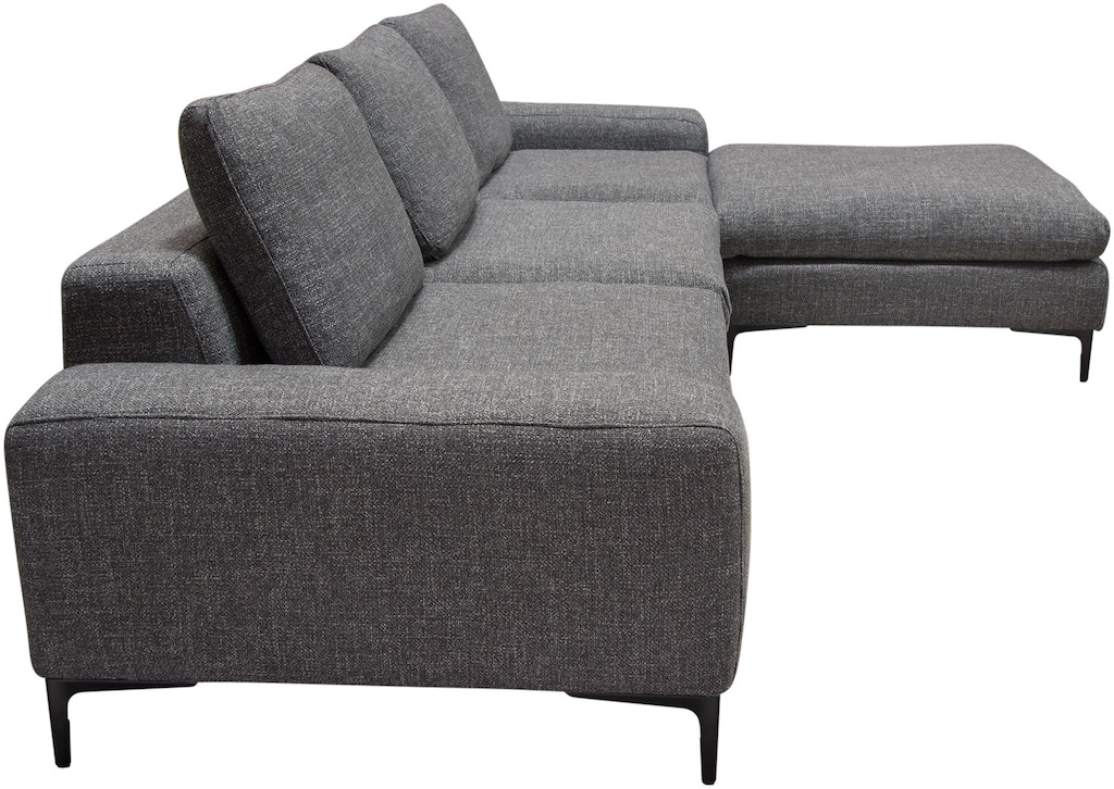 Marvelous Diamond Sofa Living Room Flux 3Pc Modular Sectional In Grey Caraccident5 Cool Chair Designs And Ideas Caraccident5Info