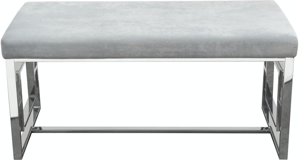 Diamond Sofa Living Room Muse Accent Bench In Light Grey ...