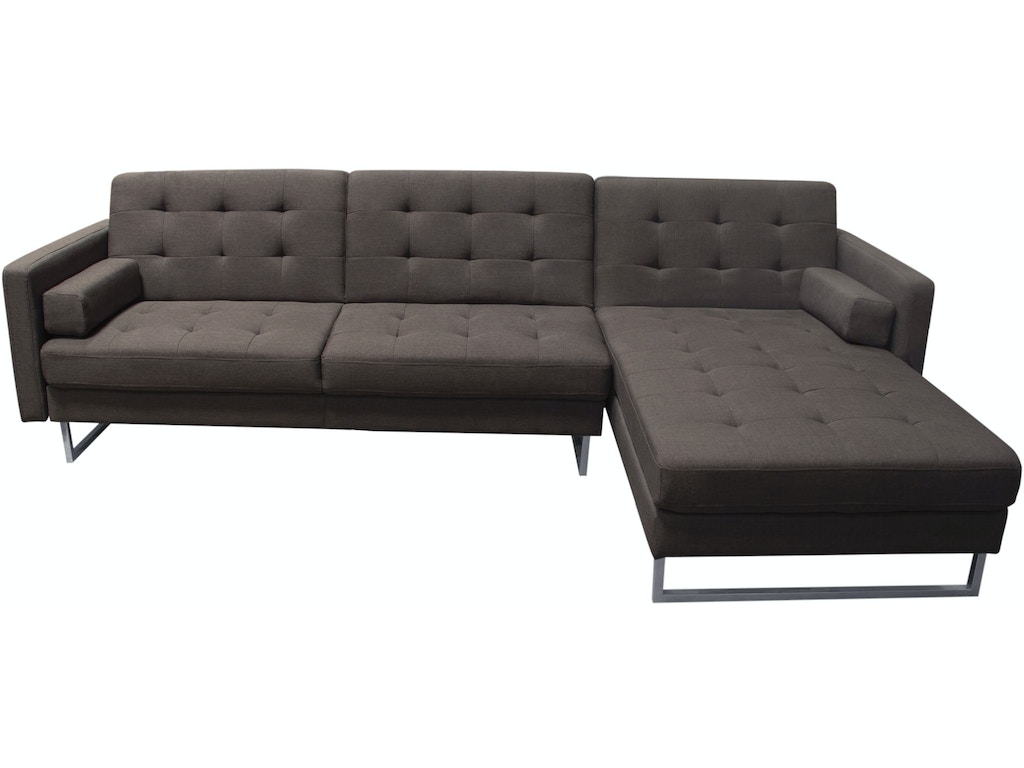 Diamond sofa living room opus convertible tufted rf chaise for Chaise convertible