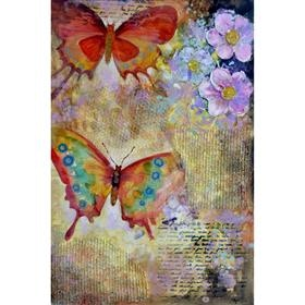 Yosemite Home Decor Accessories Butterfly Garden 1 Acrylic Painting