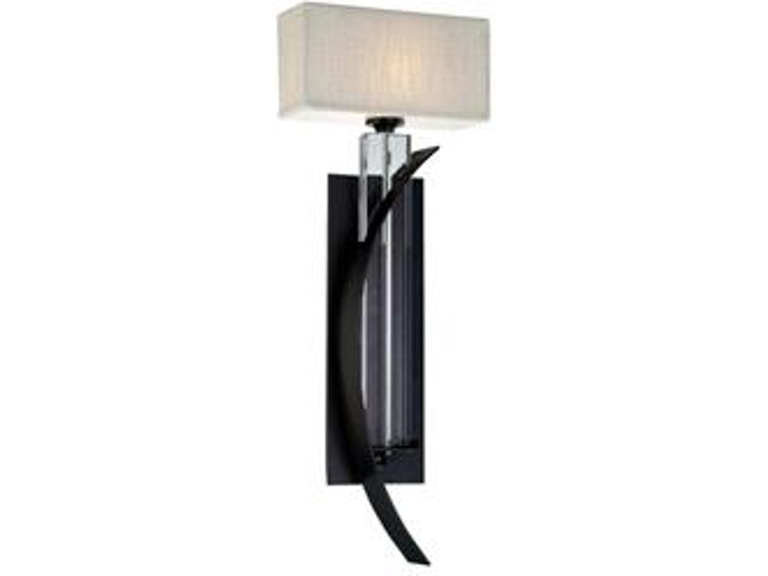 Yosemite Home Decor Lamps And Lighting 1lt Ironcrystal Wall Sconce With Fabric Shade Tw02et Ws 1rcb