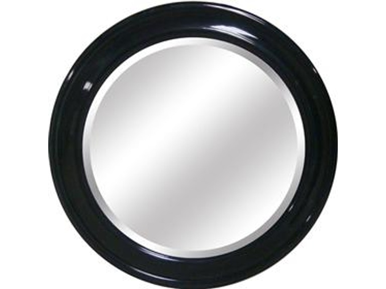 Yosemite Home Decor Accessories Round Mirror Black Frame Ymw003g