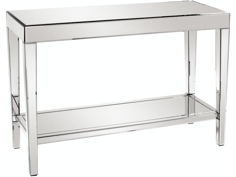 Orion Mirrored Console Table With Shelf Hr11096