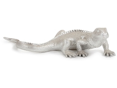 Howard Elliott Bright Nickel Plated Lizard 12170