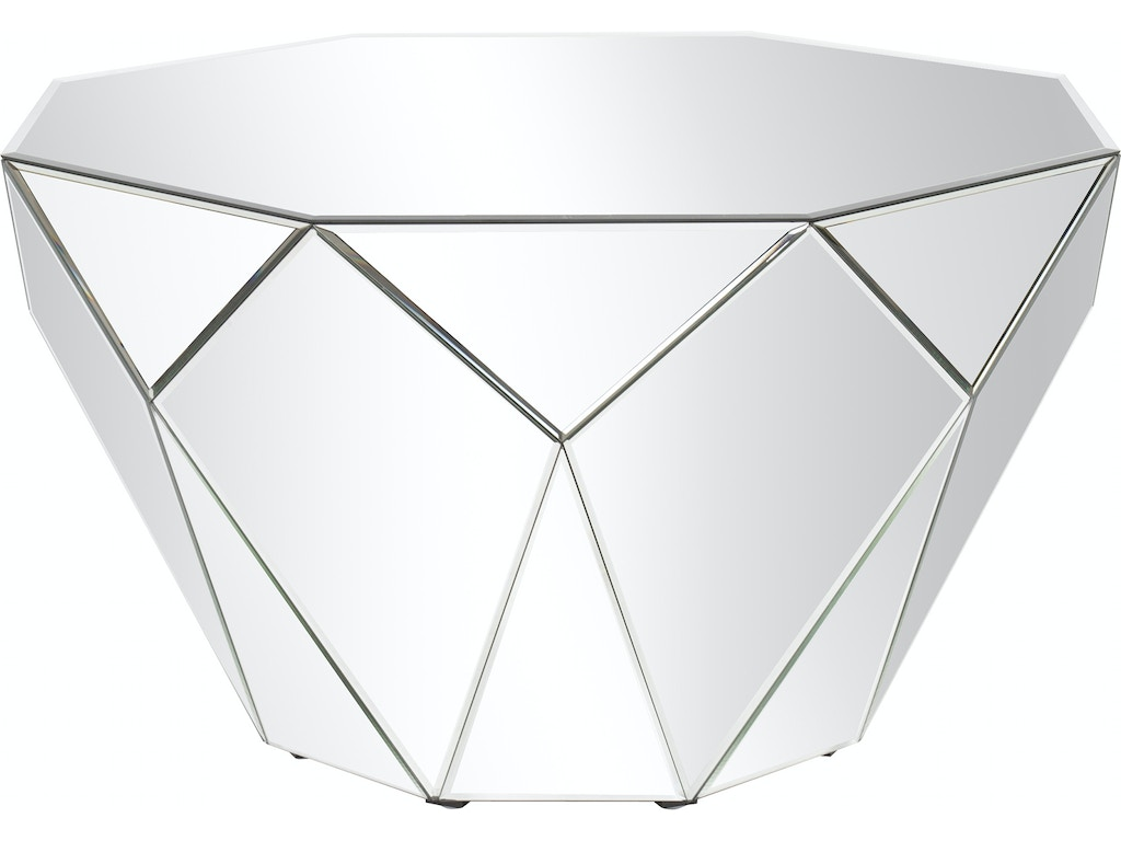 newest 8cef1 1a6df Howard Elliott Living Room Faceted Mirrored Accent Table HR29023 Walter E.  Smithe Furniture + Design